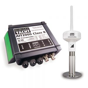 This AIT2000 + GV30 bundle is an AIS transponder with GPS and VHF antenna