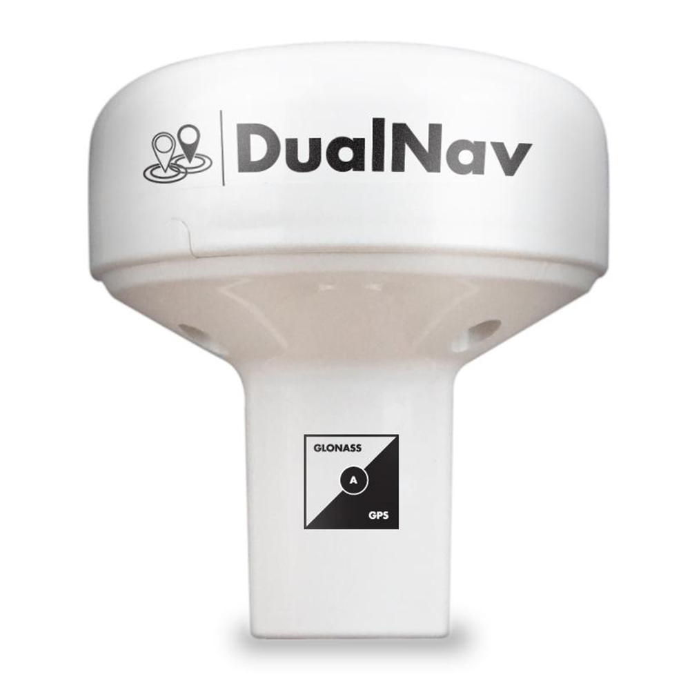 The GPS150 DualNav™ marine GPS antenna combines a super accurate 50 channel GPS with GLONASS.