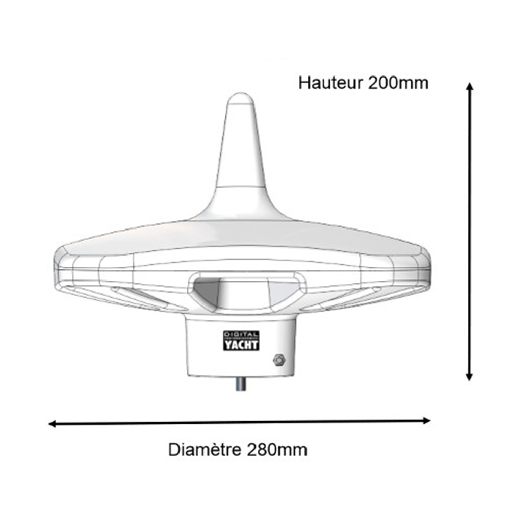Dtv100 Marine Tv Antenna For Boat Digital Yacht Accessories Fm Gain Signal 180 Hd