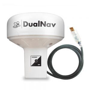 DualNav technology offers unprecedented positioning accuracy with GPS and GLONASS from this USB smart marine GPS sensor.