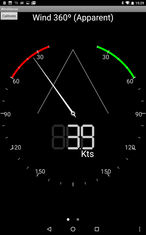 Windsense is a Wind display app for Android