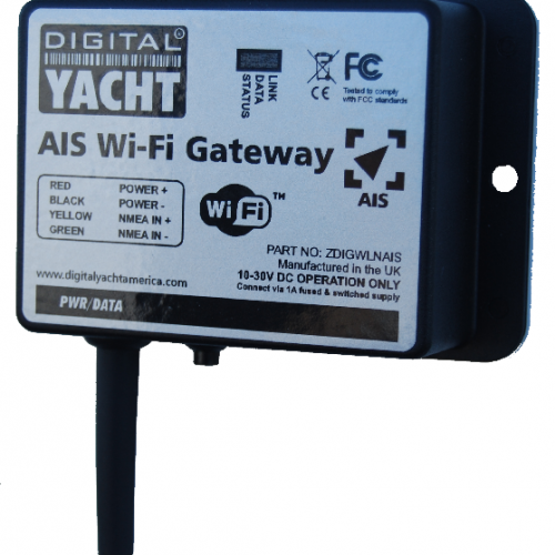 WiFi enable any Digital Yacht AIS receiver or transponder with this AIS Wifi server