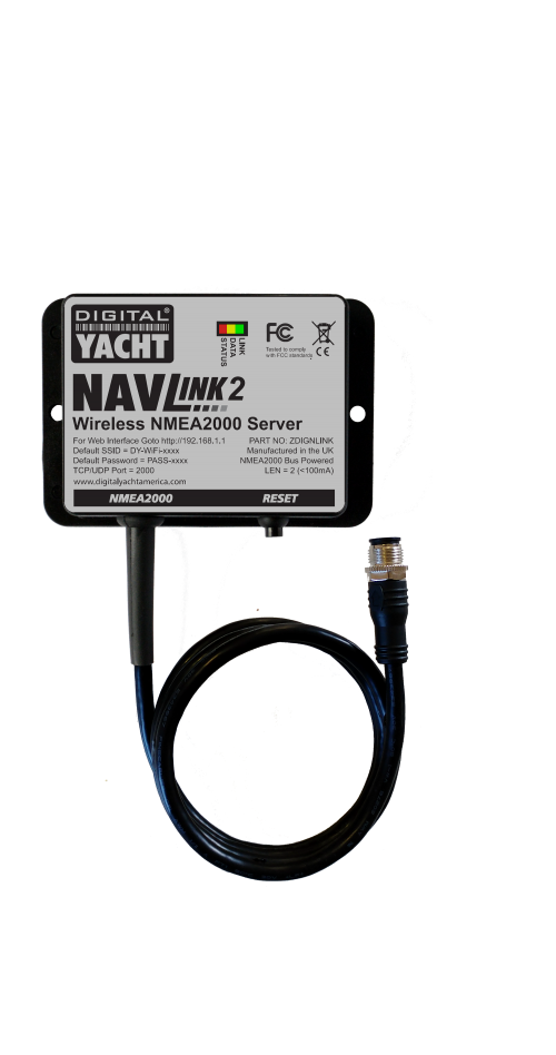 Navlink2 allows NMEA2000 data on tablets and PCs