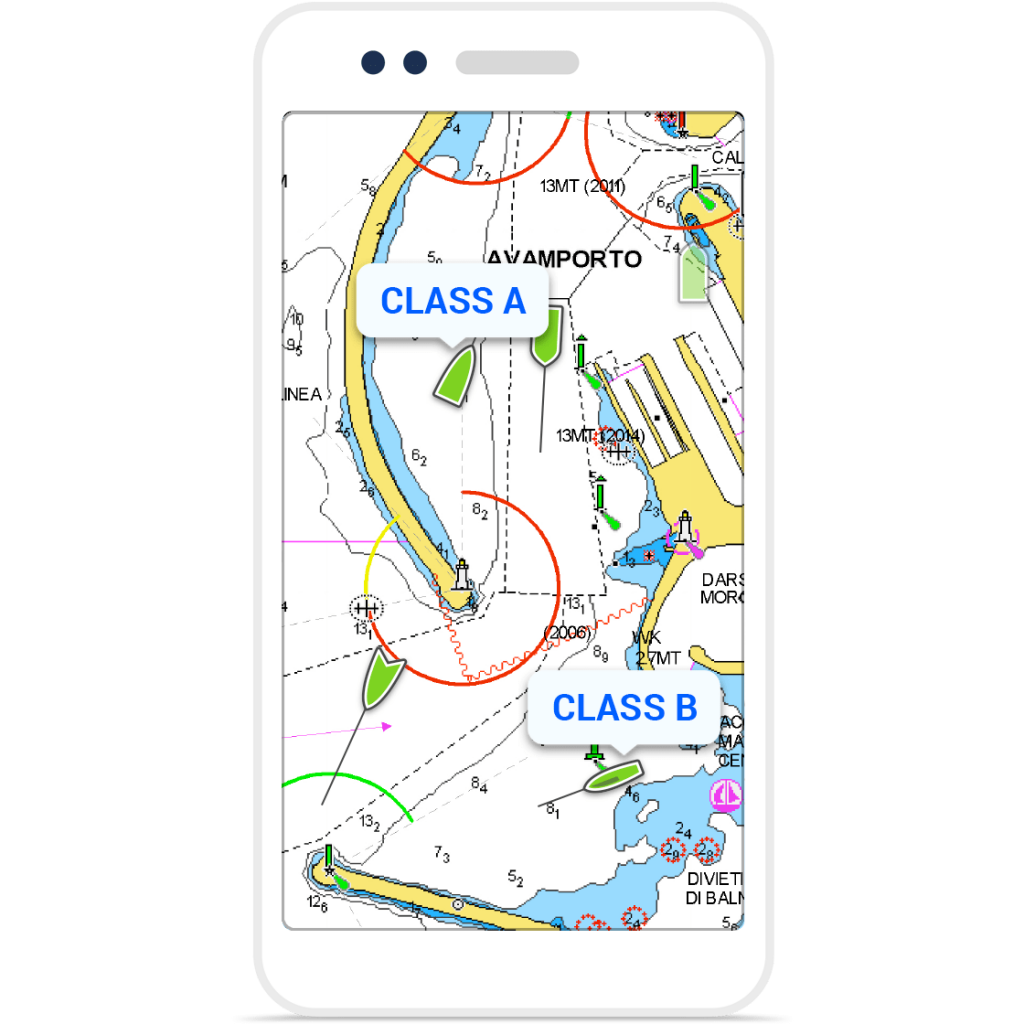 AIS on Navionics
