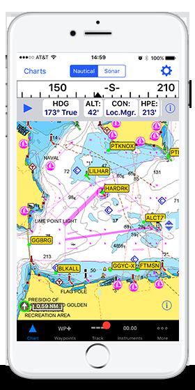inavx is an ios marine app